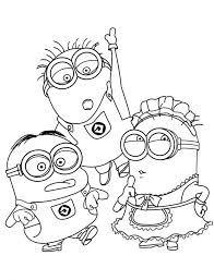 Free Minion Coloring Pages Best For