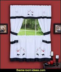 Fat Chef Gourmet Embellished Cottage Topper Curtains Kitchen