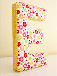 Make Your Own Fun Fabric Covered Letters