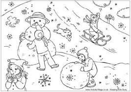 My Kids Love To Print And Color These Winter Coloring Pages