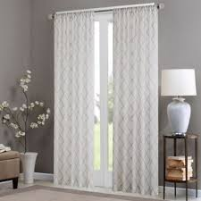 Gray Sheer Curtains Bed Bath And Beyond by Buy Sheer 84 Inch Window Curtain Panel In Grey From Bed Bath U0026 Beyond