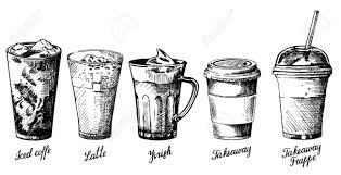 Vector Vintage Hand Drawn Illustration Of Different Types
