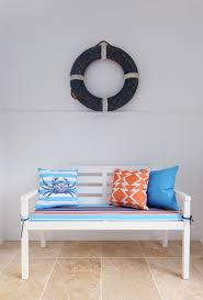 Decorative Wooden Lobster Trap by Hamptons Beach House With A Touch Of Coastal Vintage