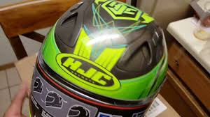 Hjc Cl 17 Chin Curtain by My New Hjc Fg 17 Motorcycle Helmet Youtube