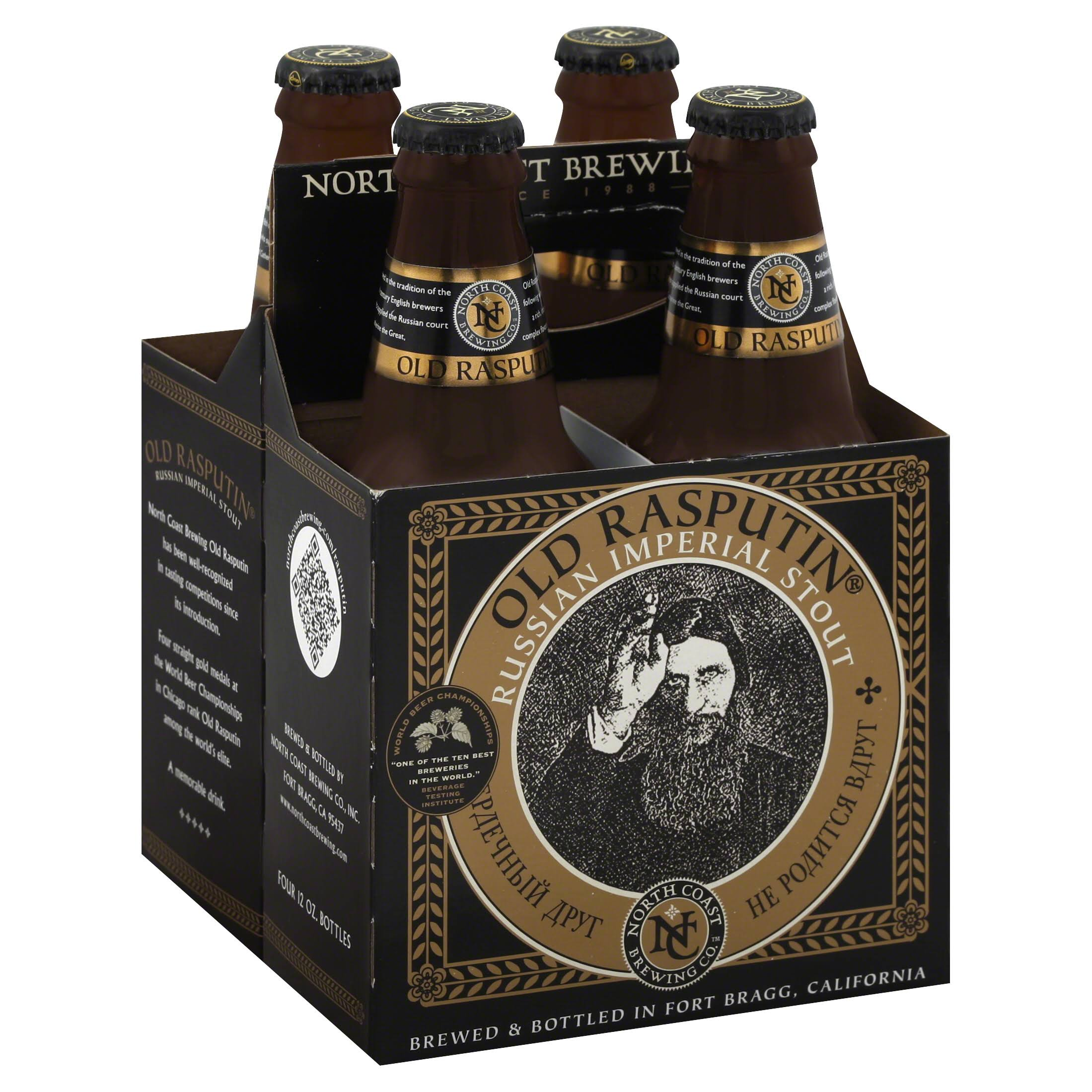 North Coast Brewing Stout, Russian Imperial - 4 pack, 12 oz bottles