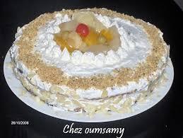 dessert avec creme fouettee gateau à la crème chantilly au fruits chez oumsamy