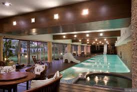 Impressive Exposed Beam Indoor Swimming Pool With Garden Views At ... Home Plans Indoor Swimming Pools Design Style Small Ideas Pool Room Building A Outdoor Lap Galleryof Designs With Fantasy Dome Inspirational Luxury 50 In Cheap Home Nice Floortile Model Grey Concrete For Homes Peenmediacom Indoor Pool House Designs On 1024x768 Plans Swimming Brilliant For Indoors And And New