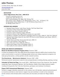 College Application Resume Examples For High School Seniors Sample Awesome Template