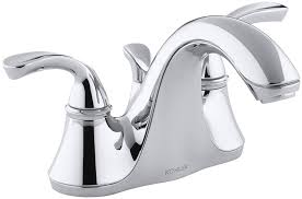 Kohler Forte Bathroom Faucet Handle Removal by Kohler K 10270 4 Cp Forte Centerset Lavatory Faucet With Sculpted