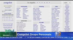 Craigslist Drops Personal Ads - YouTube Craigslist Los Angeles California Cars And Trucks Great Cheap Used For Sale 1 Photo Facebook Smith Volvo New In San Luis Obispo Santa Maria Ca Suvs And Online Youtube The Webolution Of Communication Media Medium Cities Towns How To Search All The Ventura Garage Sales Bestcurtainsml