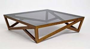 collection glass wood coffee table furniture oversized glass top