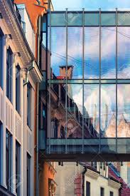 100 Glass Modern Houses The Facades Of The Old Town Houses In The Reflection On The Glass