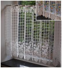 rideau macramé cuisine macrame lace ready made cafe kitchen curtain panel 24 inch