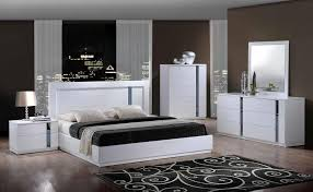 Ebay Furniture Bedroom Sets by Furniture Fascinating Modern 4 Pieces Madrid White Lacquer King