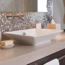 reve vessel above counter bathroom sink the new american home 2016