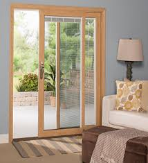 Sliding Door With Blinds In The Glass by Sliding Patio Doors Energy Efficient Sunrise Windows
