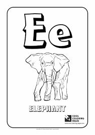 Letter E Coloring Alphabet