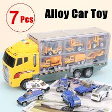 100 Matchbox Car Carrier Truck 7 Pcs Double Sided Transport Semi Rier Toy