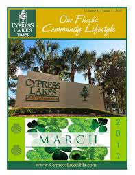march cypress lakes times by cypress lakes issuu