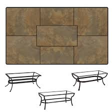 ow rectangle porcelain tile top coffee table p2850rt xx ot05