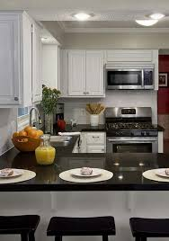 Simple Kitchen High End Counter Tops In L Shaped Layout