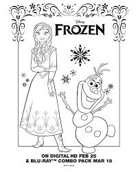 Printable Frozen Coloring Pages To Print