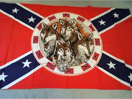 Rebel Flag Bedding by Confederate 3 X 5 Ft Flag With Wolf Pack From Okanjo At