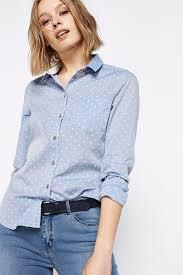 chambray polka dot shirt shirts springfield man u0026 woman