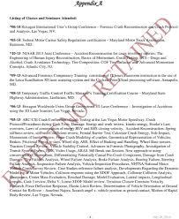 100 Maryland Motor Truck Association Curriculum Vitae Glen F Reuschling ACTAR 1318 CRASH SCENE