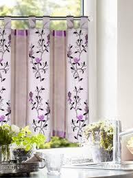 bestickter schlaufenpanneaux silber violet 45x145cm