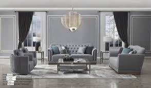 wohnzimmer sofagarnitur polster sitz sofa leder metall 3 2 2 set garnitur