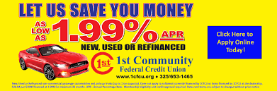 1st Community Federal Credit Union Auto Loans Cedar Point Fcu Lexington Park Md Fixed Rate Equity Fort Knox Federal Credit 1st Community Union Associated Of Texas Vehicles For Sale Bronco Newsroom Dover Consumer Upper Cumberland 1991 Chevy Xcab Auto Loan Appraisal Dort Flint Home First Abilene Ussco