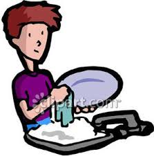 Washing The Dishes Clipart