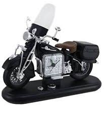 VINTAGE MOTORCYCLE Harley AM FM RADIO ALARM CLOCK