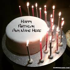 Awesome Candels Happy Birthday Cakes With Name