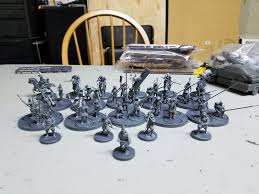 The Box Set Has Sprues To Create 35 Minis These Are Old Wargames Factory Samurai You Can Make 5 20 Spearmen And 10 Archers