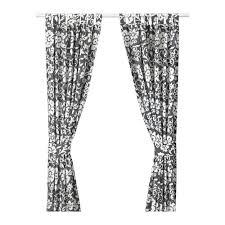 kungslilja curtains with tie backs 1 pair gray white room