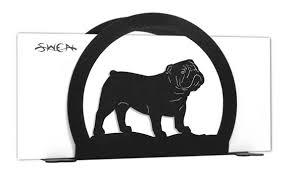 englisch bulldog hund metall buchstaben serviettenhalter karte