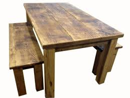 Rustic Dining Table With Bench Video And Photos Madlonsbigbear Gorgeous
