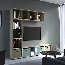 vicco raumteiler ludus 4 fächer sonoma 144 x 36 cm standregal hängeregal regal tv lowboard