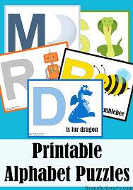 Alphabet Puzzles For Preschoolers