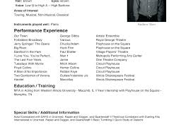 Sample Acting Resume No Experience Examples For Beginners Example Template