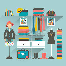 Clothing Store Boutique Indoor Flat Design Vector Illustration