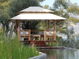 Harmonious Pool Pavilion Plans by Summer Gazebo Design With Pool In Backyard Small Size Gazebo How