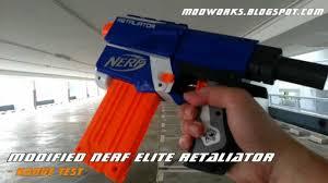 modified nerf elite retaliator range test