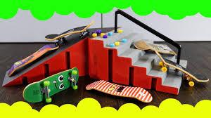 Tony Hawk Tech Deck Half Pipe by Skateboards Bike Toys For Kids Fingerboard Park Fingerboard Tech