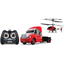 World Tech Toys 3.5CH Mega Hauler Helicopter & Truck Combo(Color May ...