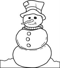 Printable Snowman Coloring Page For Kids