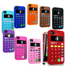 CALCULATOR SILICONE CASE COVER FOR APPLE IPHONE 4 4G 4S STYLUS
