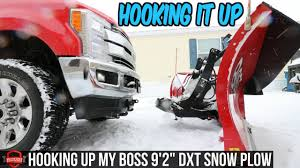 100 How To Plow Snow With A Truck Hook Up Connecting My BOSS DXT My